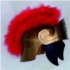 Gold Roman Helmet With Black Maribou